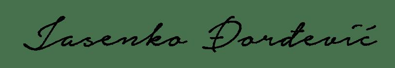Jasenko Dordevic signature